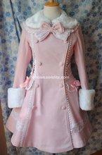 Customizable Magnificent Pink Winter Wool Warm Coats  Lolita Coat Gothic Lolita Wool 4XL 5XL 6XLCoat