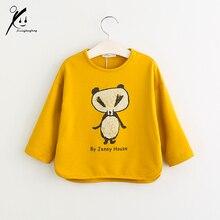 Children's Sweatshirts Spring Summer 100% Cotton Boys Girls Hoodies T Shirts Cute Child Cartoon Kids Sweatshirt XDD-612525