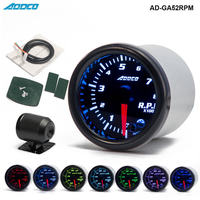 Car Auto 12V 52mm 2 7 Colors Universal Car Auto Tachometer Gauge Meter LED With Sensor