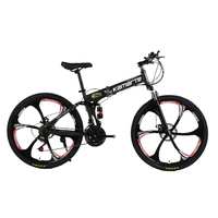 Russian Wholesale And Warehouse Top Quality 26 Inch Folding Mountain Bike 21 Speed Double Disc Brake
