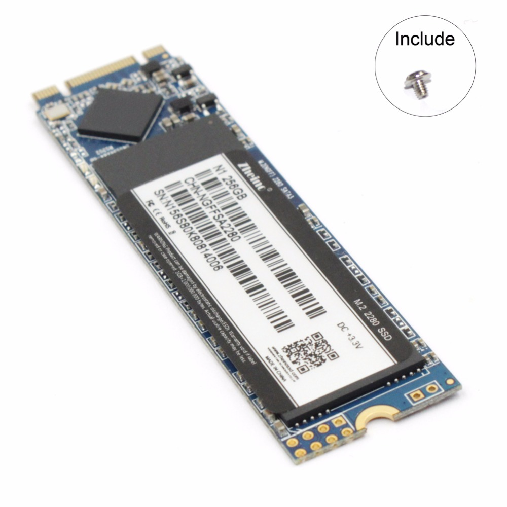 Zheino M.2 SSD 256GB 2280M NGFF SATAIII 6gb/s Internal Solid State Drive For Laptop Desktop цена 2017