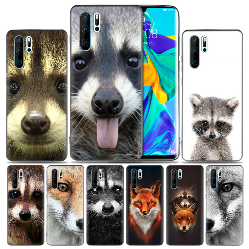 Animal Raccoon Fox Silicone Back Case For Huawei P30 P20 Mate 20 10 Pro P10 lite P Smart + Plus Z 2019 Nova 5 5i Riverdale Cover