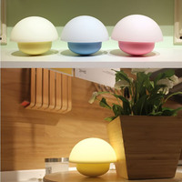 Tumbler Light LED Mushroom Lamp Night Light Glowing 4 Modes 7 Color Change Atmosphere Touch Sensor
