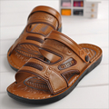2017 double use Slides sandals fashion black/brown Classics Flat with men shoes summer shoes for men