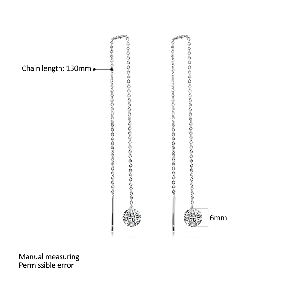 a PISSENLIT Silver Long Drop Earrings Round Gold Silver Earrings Women Jewelry New Fashion Grace Woman Korean Jewelry Girls Gifts