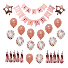 2018 1st Birthday Party Supplies and Rose Gold Decorations | Includes Confe
