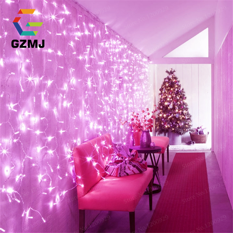 3M/5M LED Wedding Light Icicle Christmas Light LED String Fairy Light Garland Birthday Party Waterproof Garden Curtain Decor цена