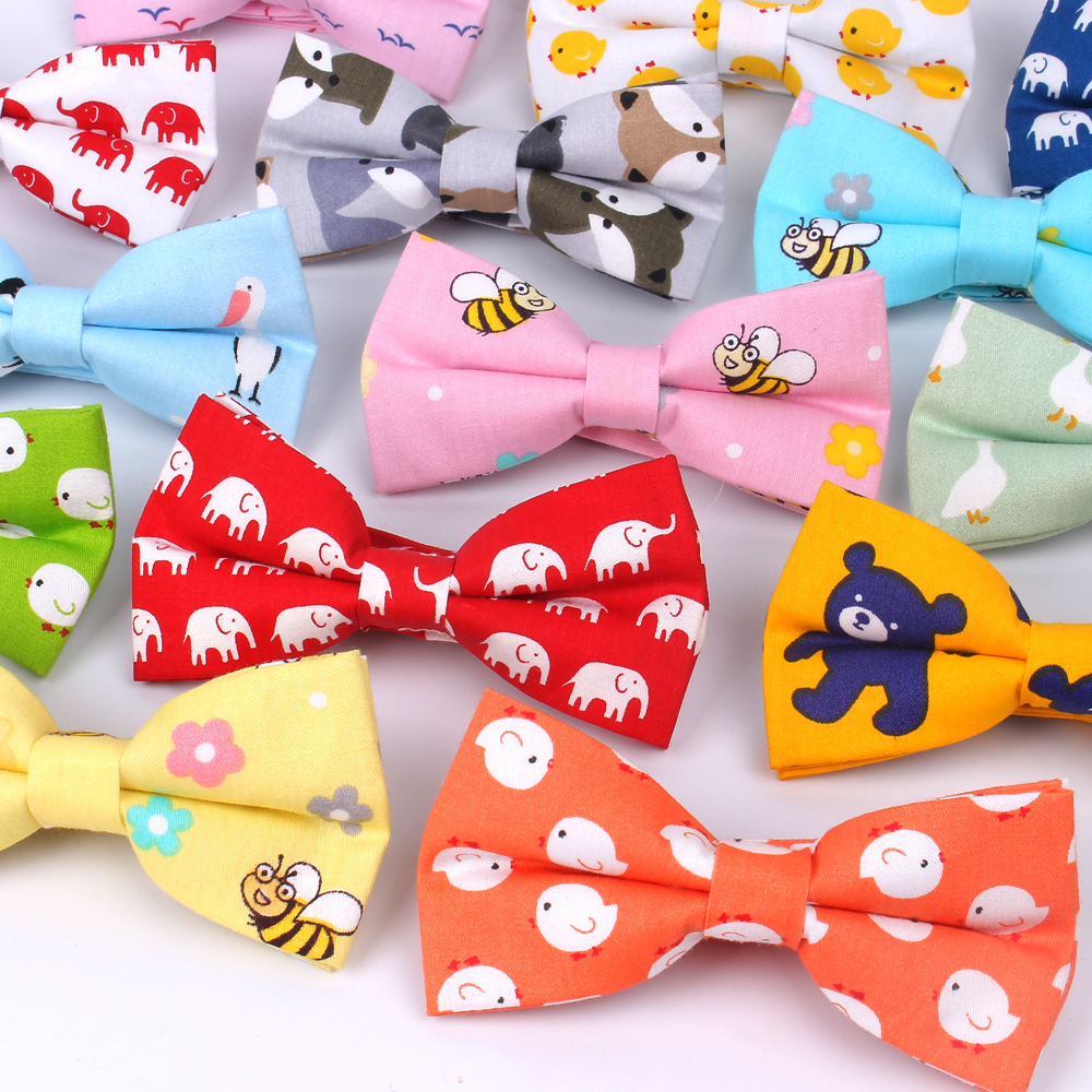 Cartoon Bow Ties 100% Cotton Bowties For Men Yellow Green Color Mens Bow Tie For Wedding Business Fashion Butterfly Gravata