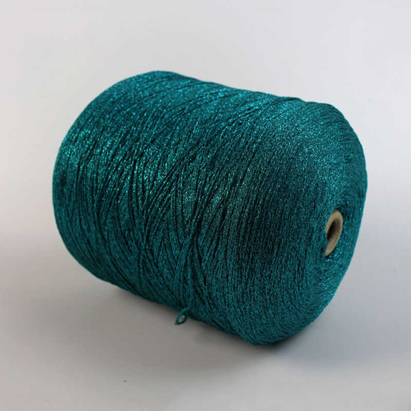 Quality 250g Beautiful Unique Silk Cotton Metallic Yarn Skein Hand Knitting Gold Silver wire Thick Crochet Thread tejer,X3069
