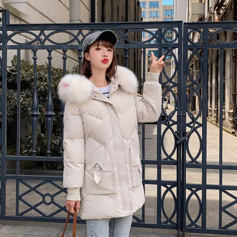 Fur   Coat   Hooded Winter   Down     Coat   Jacket Thick Warm Long Cotton padded Wadded Parkas Casaco Feminino Abrigos Mujer Invierno 09