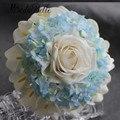 modabelle 2017 Blue Ivory Roses Wedding Bouquet Calla Lily Hydrangea Flowers Bridal Bouquets Ramo De Flores Novia Real Touch
