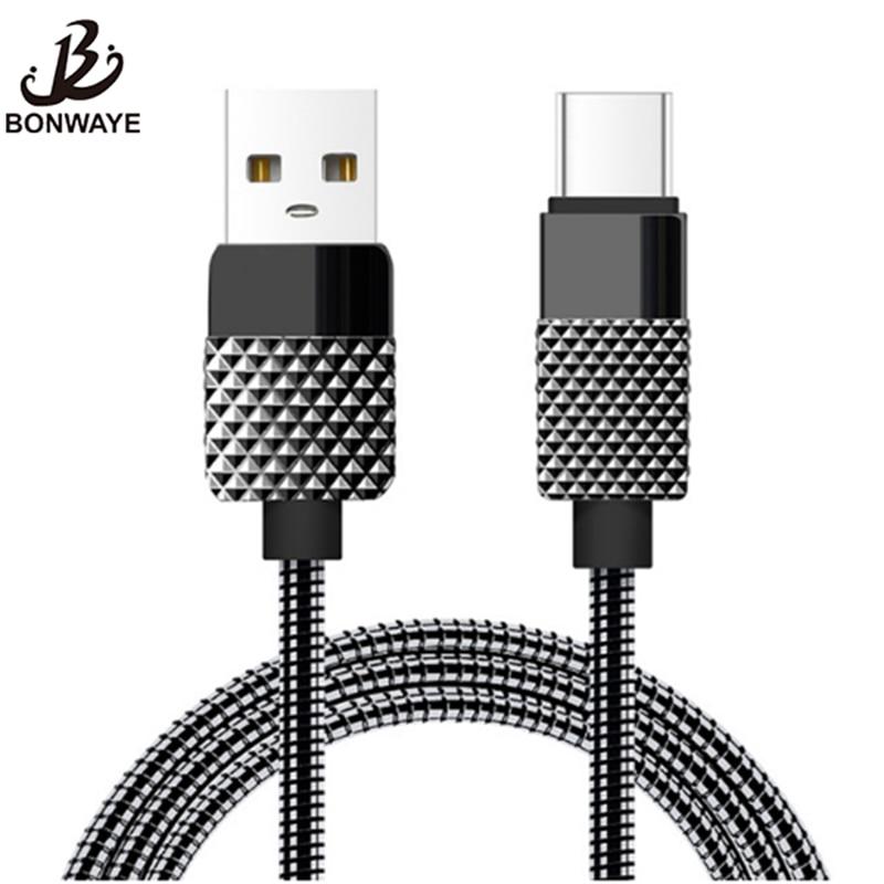 Digital Kabel Sonderabschnitt Bonwaye Metall Frühling Micro Usb Kabel Typ C Ladegerät Kabel Schnelle Daten Übertragung Für Pc Handy