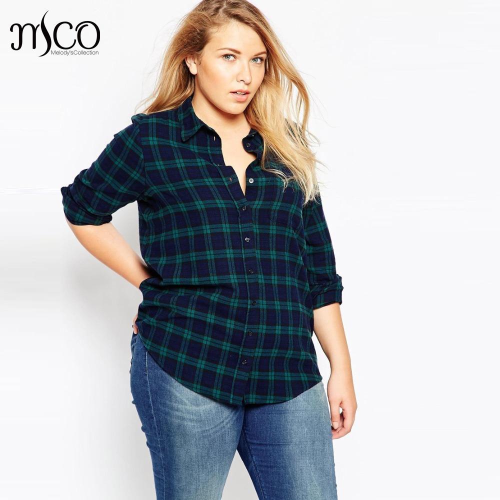 Womens Green Checked Shirt