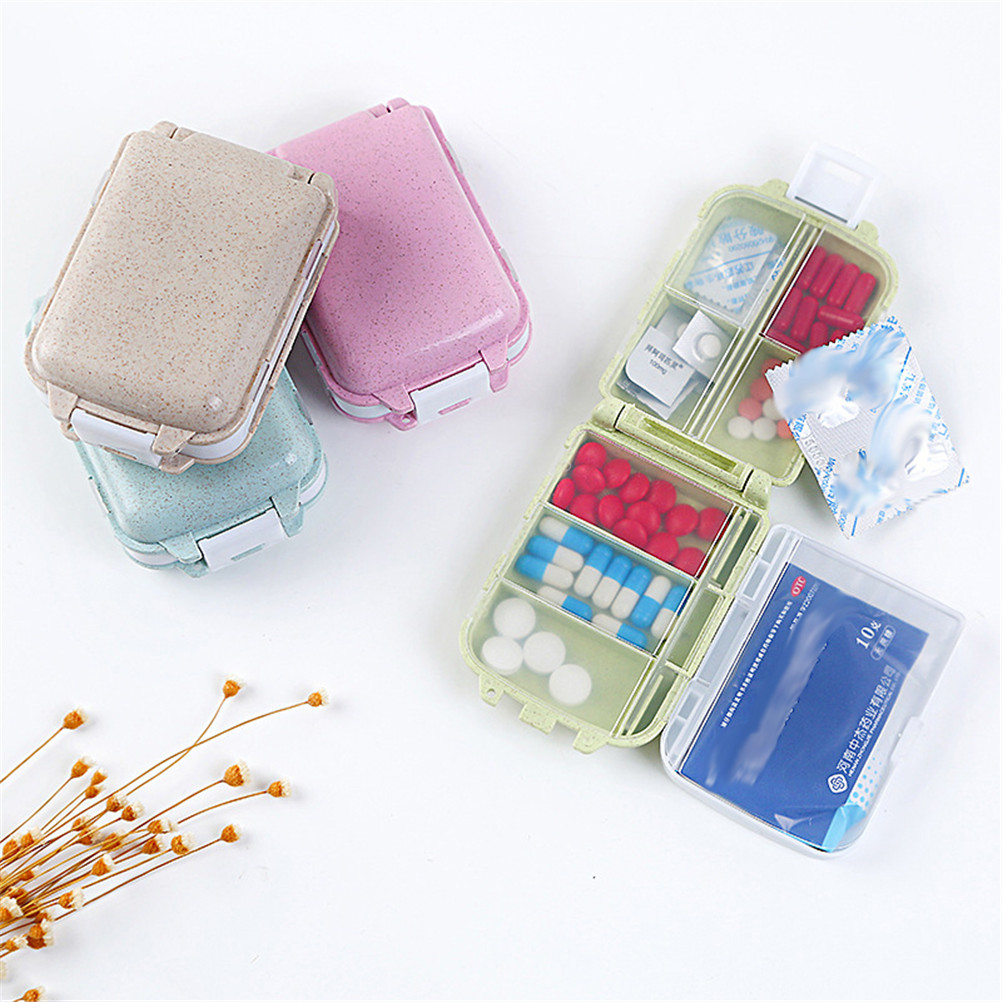 1PC Weekly Sort Portable 3 Layers Folding Vitamin Medicine Tablet Drug Pill Box Case Container