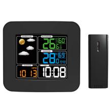 Promo offer Colorful LCD Wireless Digital Weather Station Temperature Humidity Monitor Meter Thermometer Hygrometer Snooze Alarm Clock