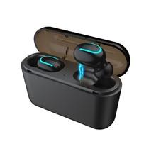 Bluetooth Headset New Version 5.0 Dual Call True Wireless HBQ Invisible Ear Cross-border Explosion headphones bluetooth
