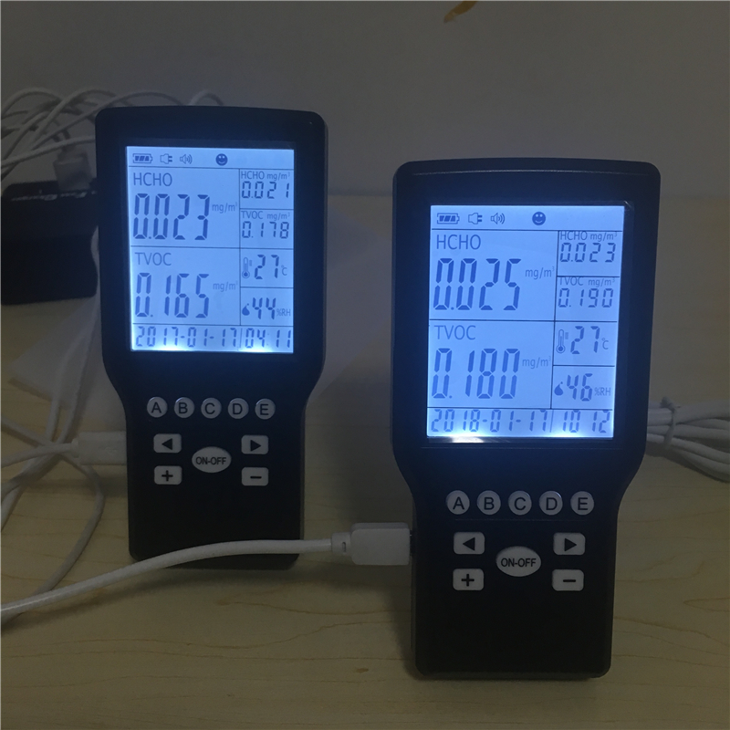 Popular home use formaldehyde IAQ monitor Indoor HCHO Air Quality Monitor digital indoor air quality carbon dioxide meter temperature rh humidity twa stel display 99 points made in taiwan co2 monitor