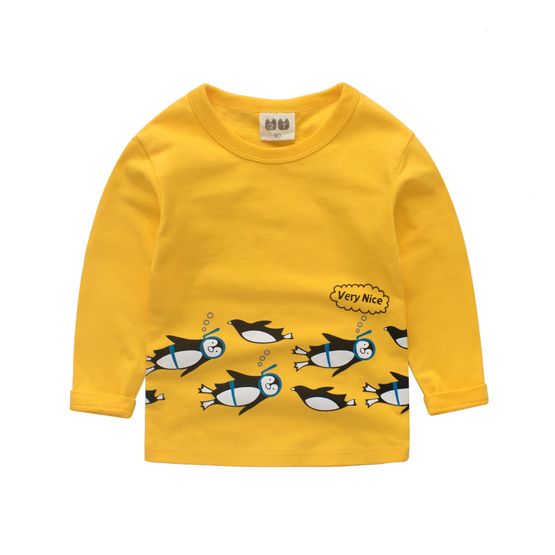 Girls shirt Long sleeve top Penguin T shirt clothing girl tshirts boys t-shirt tops clothes shirts children Clothing kid clothes