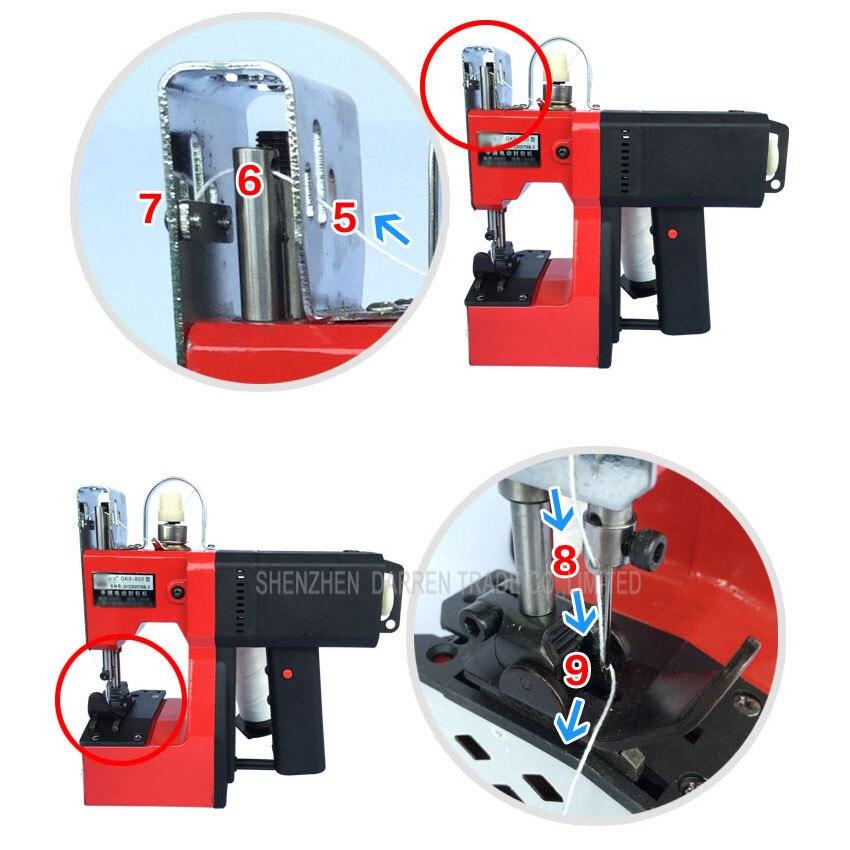 1 Набор пистолет портативная упаковочная машина электрическая машина швейная машина тканый мешок рисовый мешок шовный инструмент - 5