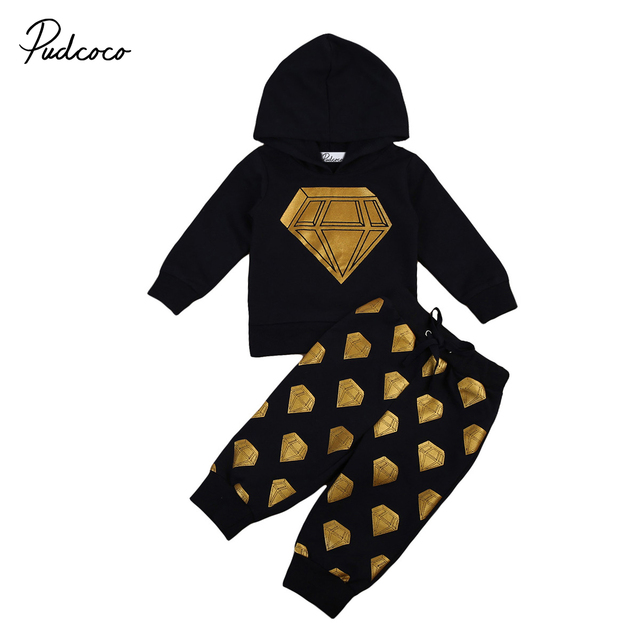 6ae1508fd 2pcs 2017 New autumn fashion diamond baby girl Boys clothes set ...