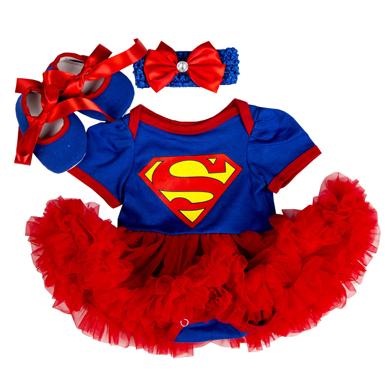 Baby Clothes Supergirl costume for Baby Infant Party Dress Tutus Newborn Jumpsuit Bebe Romper Baby Girl Clothing Birthday Gift