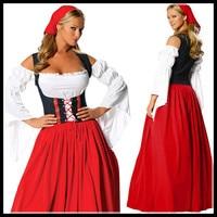 Halloween Women Sexy Beer Girl German Oktoberfest Bavarian Costume Festival Carnival Party Fancy Dress Bar Maidien Clothing