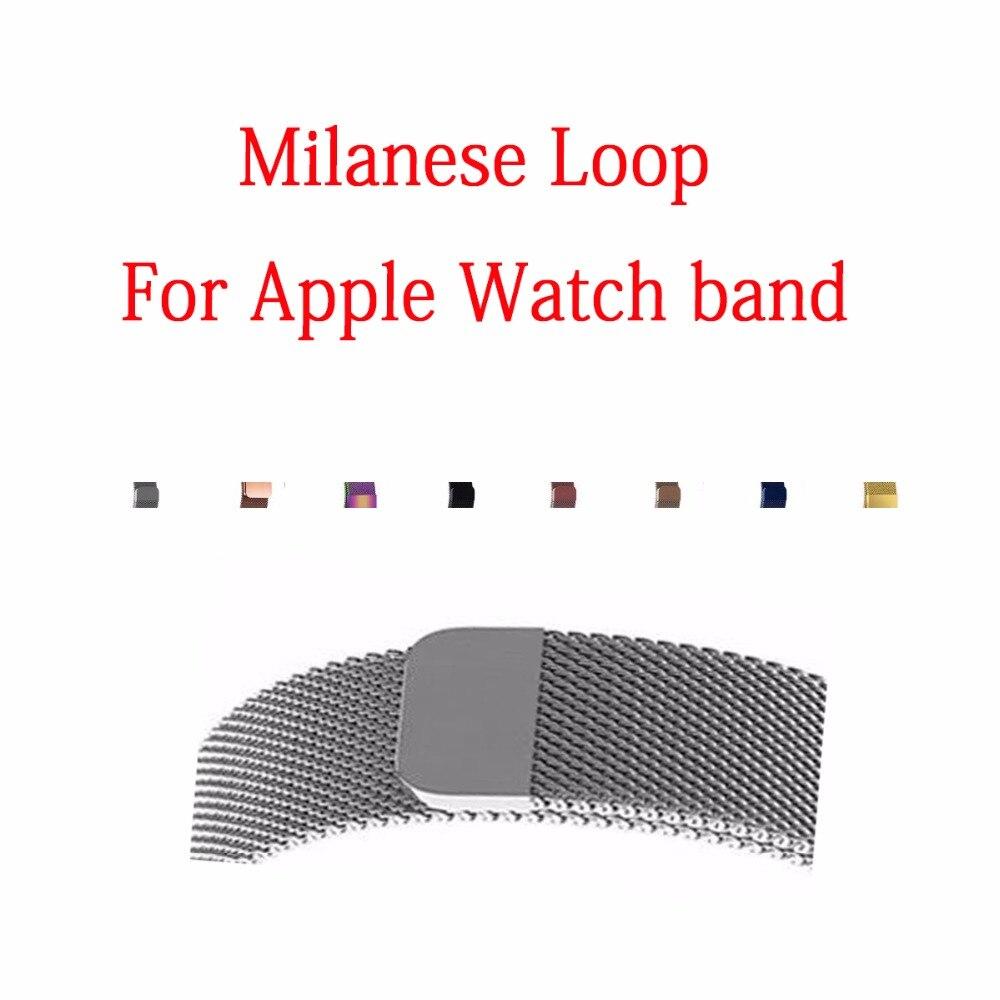 Für Apple Uhr Band, Glatte Edelstahl Gurt Frei Voll Magnetische Verschluss Verschluss Metall Strap Handgelenk Band Ersatz