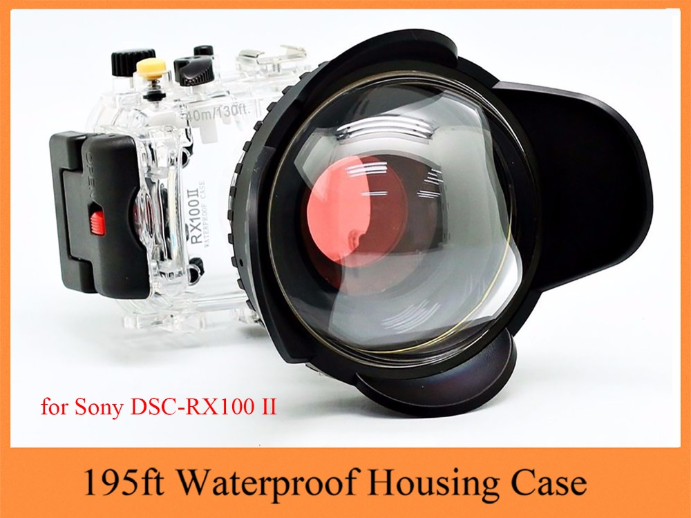 Meikon 195ft Waterproof Housing Case for Sony RX100 II,Camera Underwater Bag Case with Fisheye Wide Angle Lens for Sony RX100 II подводный бокс sony mpk urx100a для фотокамер sony rx100