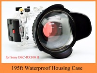 Meikon 40m/130ft Waterproof Housing Case for Sony RX100 II,Camera Underwater Bag with Fisheye Wide Angle Lens for Sony RX100 II