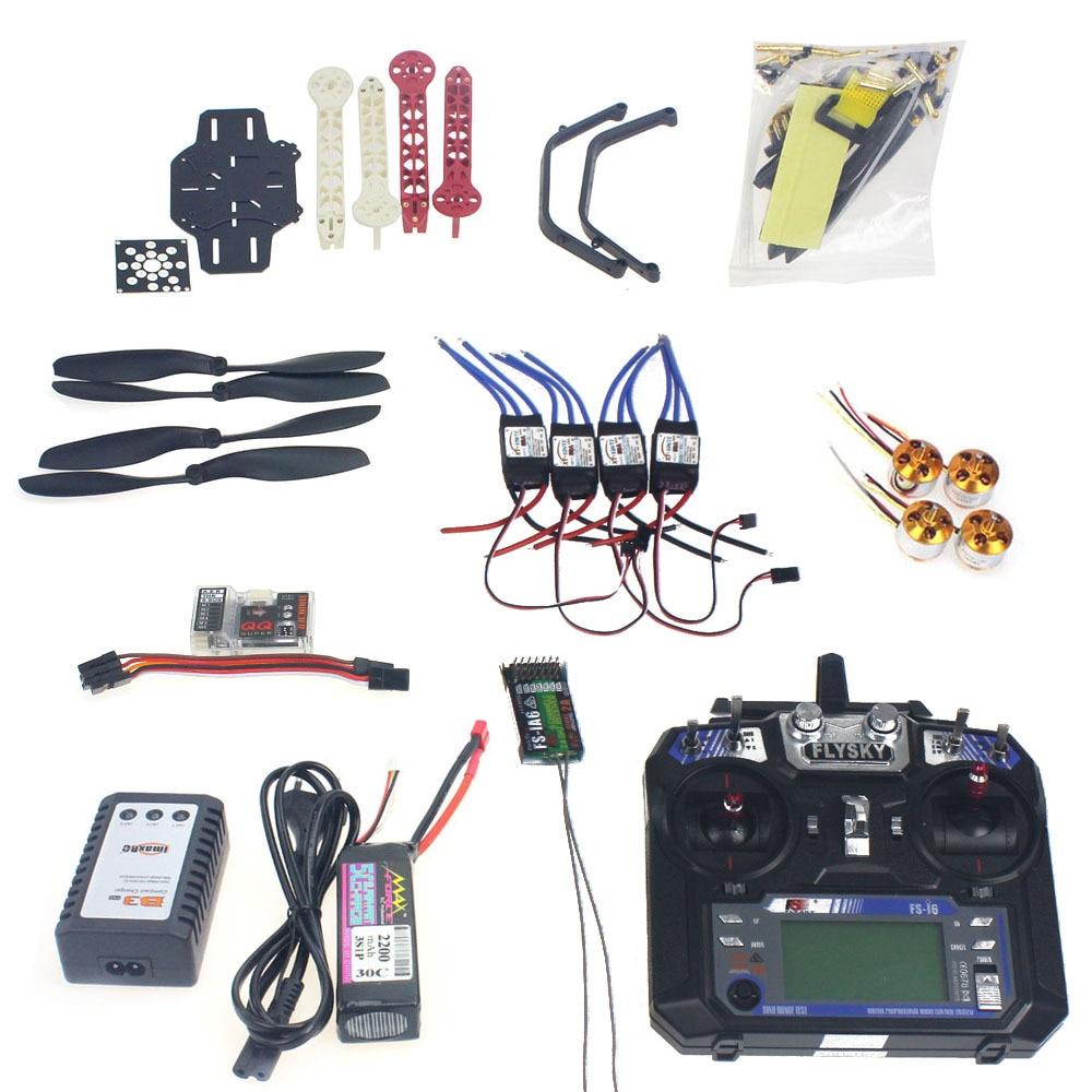 Полный комплект для 4 осевого летательного аппарата дрона квадрокоптера с дистанционным самолет комплект F330 Полетный контроллер рамки QQ