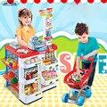 Nueva llegada 4 tipos de niños rompecabezas de juguete supermercado de alimentos vegetales carrito toys supermercado caja registradora de juguete mejor regalo