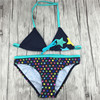 Star Pattern Swimsuit Girl Two Pieces Bikini For Children Kids Fille Biquini Infantil Separate Swimwear For
