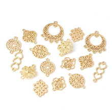 10pcs Gold Plated Flower End Clasps Connector for Earrings Necklace Jewelry Making Bracelet Accessories DIY Handmade Craft Z847