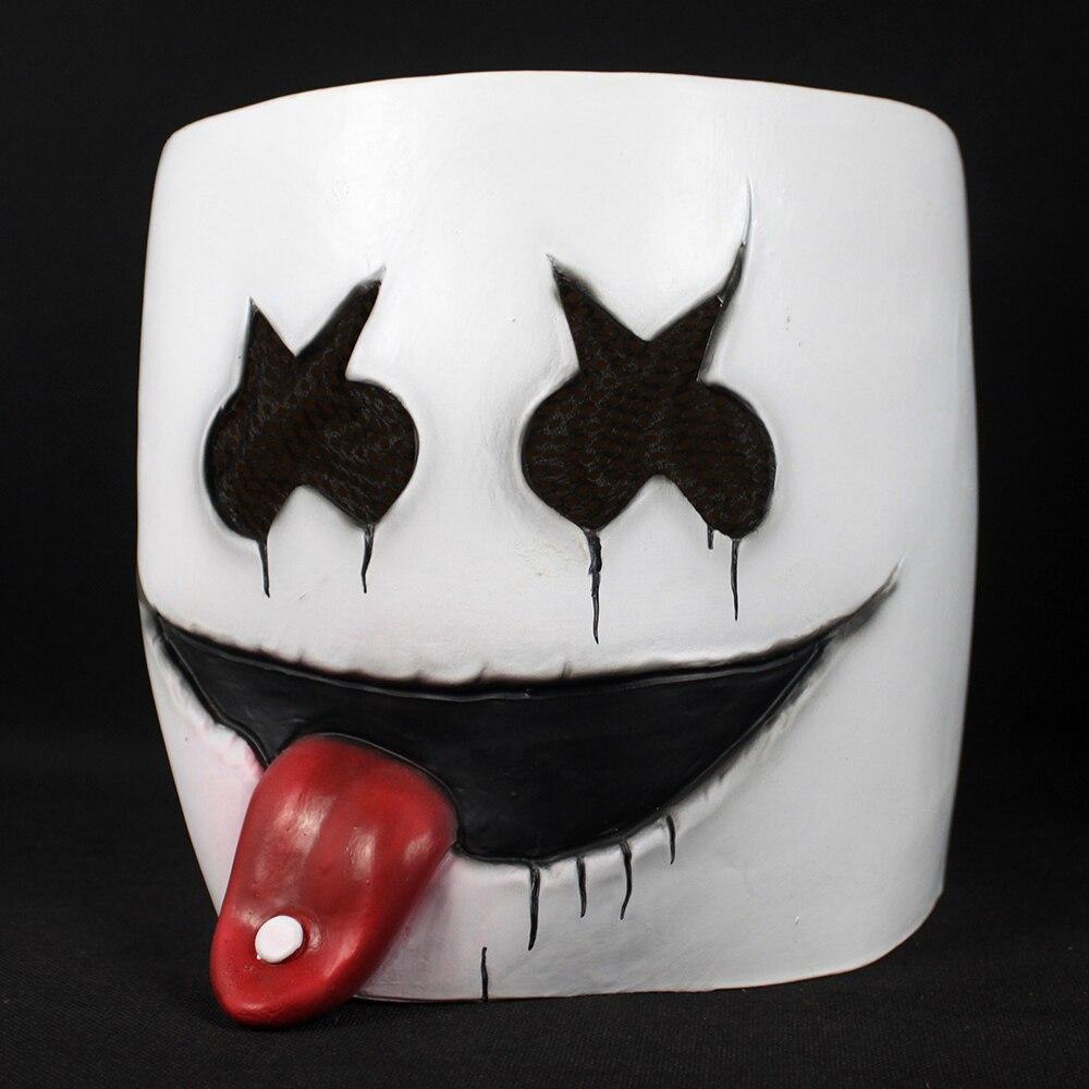 New DJ Marshmello Mask Cute DJ Marshmello Nightclub Helmelt Latex Masks Concert Christmas Halloween Carnival Party Prop Dropship4
