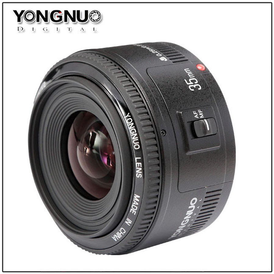 35mm lens YN35mm F2.0 lens Wide angle Fixed dslr camera Lens For canon 600d 60d 5DII 5D 500D 400D 650D 600D 450D 60D 7D
