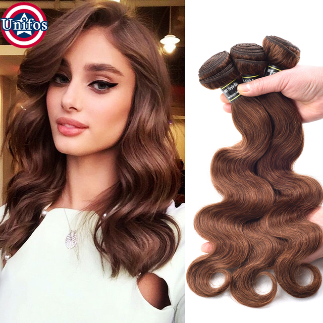 Brazilian Virgin Hair Brown Body Wave Color 4 Chocolate Hair Weave