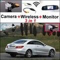 3 в 1 Специальный Wi-Fi Камера + Беспроводной Приемник + Зеркало Экрана Заднего вида Система Парковки Для Mercedes Benz MB W212 W207 C207