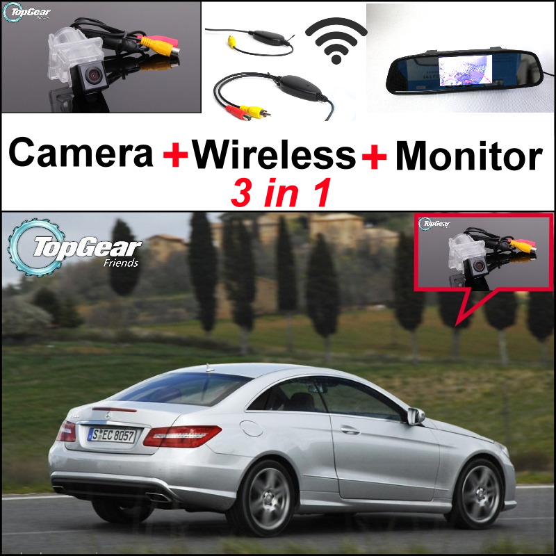 3 in 1 Special WiFi Camera + Wireless Receiver + Mirror Screen Rear View Parking System For Mercedes Benz E MB W212 W207 C207 liislee 3in1 special camera wireless receiver mirror screen diy rear view parking system for mercedes benz mb b class w245