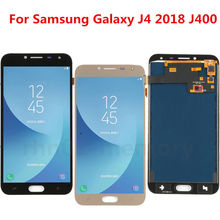 TOP AAA+ LCD For Samsung Galaxy J4 2018 J400M J400F J400G TFT Brightness Adjust FULL Screen Display Assembly White