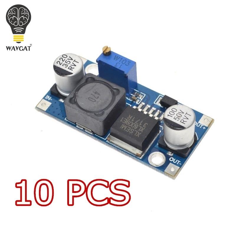 Elektronik Bileşenleri ve Malzemeleri'ten Entegre Devreler'de 10 ADET WAVGAT XL6009 DC DC Güçlendirici modülü Güç kaynağı modülü çıkışı ayarlanabilir Süper LM2577 step up modülü title=