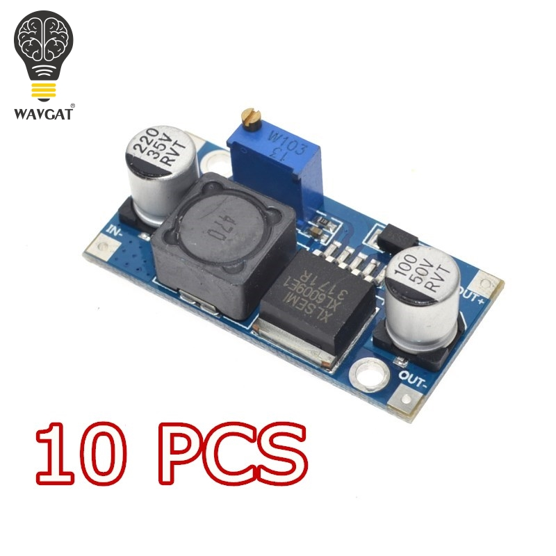 10PCS WAVGAT XL6009 DC-DC Booster module Power supply module output is adjustable Super LM2577 step-up module