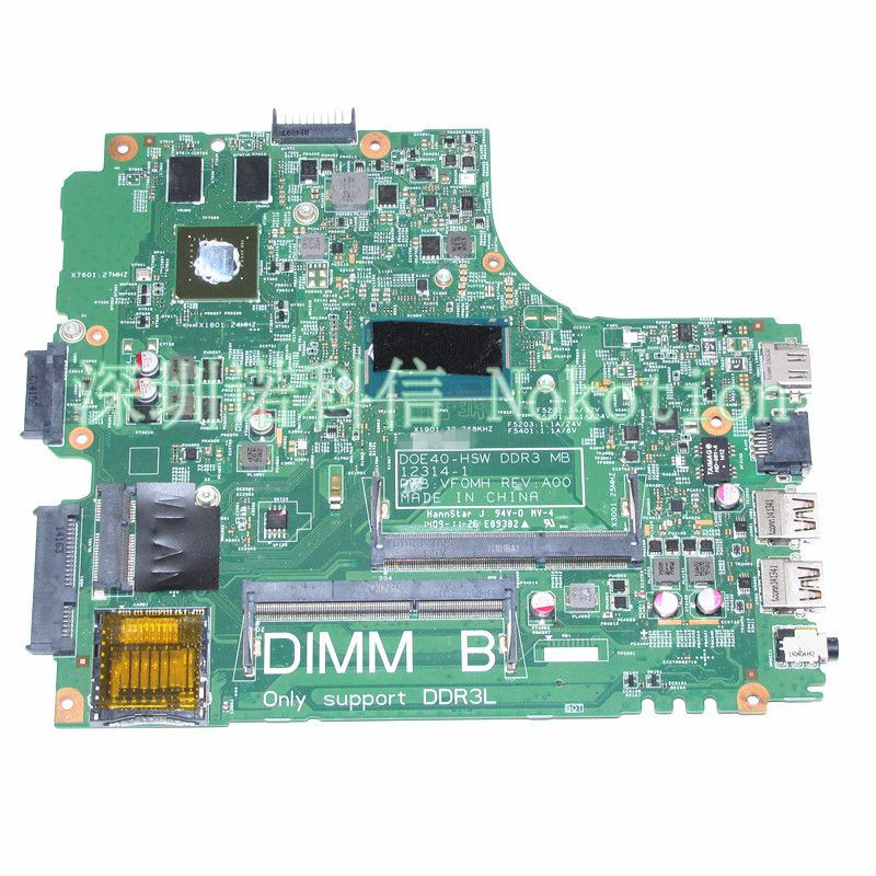 0R2FHP 01PN4H 1PN4H For Dell Latitude 3440 laptop motherboard DPTD1C CN-0DPTD1C with SR170 I5-4200U Processor Onboard DDR3L GeFo