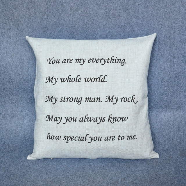 Personalized gifts for him or her Custom Pillow - Love letters Decorative Throw Pillow