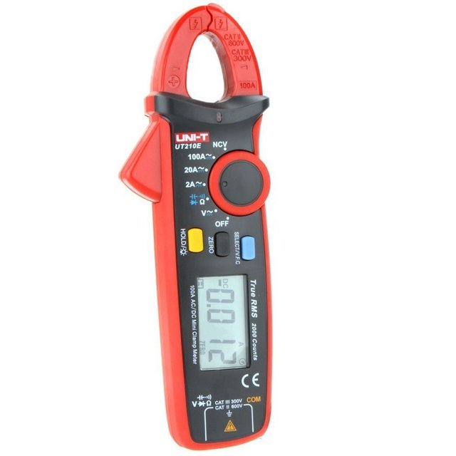 UNI T UT210E TRUE RMS Digital Clamp Meter AC DC Multimeter Auto range Current Clamp Pincers Voltmeter Ammeter Ohmmeter VFC NCV 2