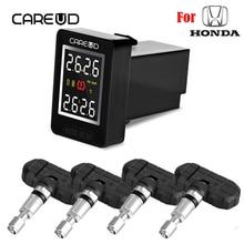 Для Honda CAREUD U912 Автомобильная электроника Беспроводная TPMS система контроля давления в шинах встроенный датчик ЖК-дисплей Встроенный монитор