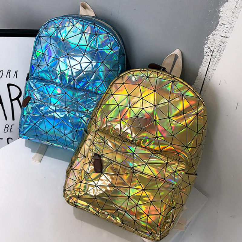 HTB11979XozrK1RjSspmq6AOdFXab Large Travel Bags Laser Backpack Women Men Girls Bag PU Leather Holographic Backpack School Bags for Teenage Girls fashion bag