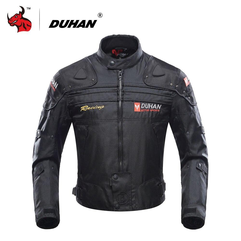 DUHAN Motorrad Jacke Motorrad Reiten Jacke Winddicht Motorrad Volle Schutz Getriebe Rüstung Herbst Winter Moto Kleidung