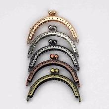 20 sztuk partia 8 5 cm rozmiar podwójne koralik półokrągłe torebka metalowa rama pocałunek zapięcie sprzęgła DIY torba akcesoria 5 kolory tanie tanio likediy Uchwyt kj032-h5-20 460g