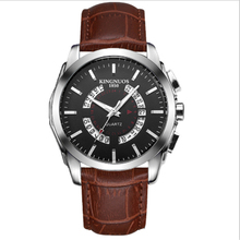 Men Wristwatch Clock Leather Casual Watches Business Calendar Month Man Watch Silver Top Luxury Quartz Wrist Watches Relogio цена и фото