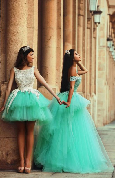 7fca3ccb25 Newest Tulle Princess Short Green Homecoming Dress With Appliques Short  Prom Dresses vestido de formatura-in Homecoming Dresses from Weddings    Events on ...